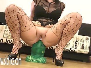 Goliath Dildo Destroys Her Ass For Life
