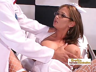 Nurse lets the doctor penetrate her with his big dick