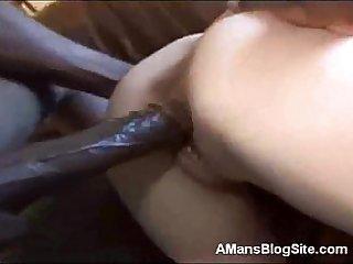 Blonde Sucks Huge Black Dick