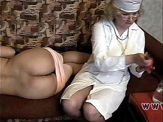 Russian Lady Doctor Enema
