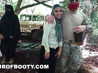 TOUR OF BOOTY - American Soldiers Getting Sweet Arab Pussy During Downtime