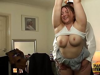 British BBW rammed and punished by kinky older guy