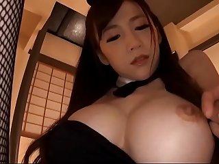 asian hot milf cosplayed bunny girl
