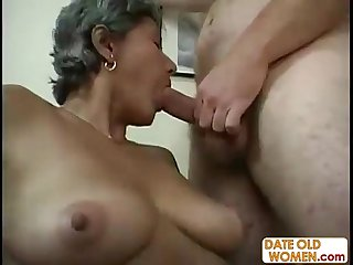 Plump hairy MILF gets big dick