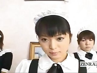 SUBTITLED POV SHY JAPANESE GROUP MAIDS INTERVIEW