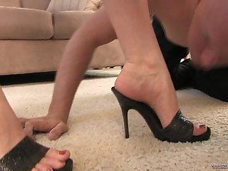 Worshiping Megan's Divine Feet - Femdom foot fetish